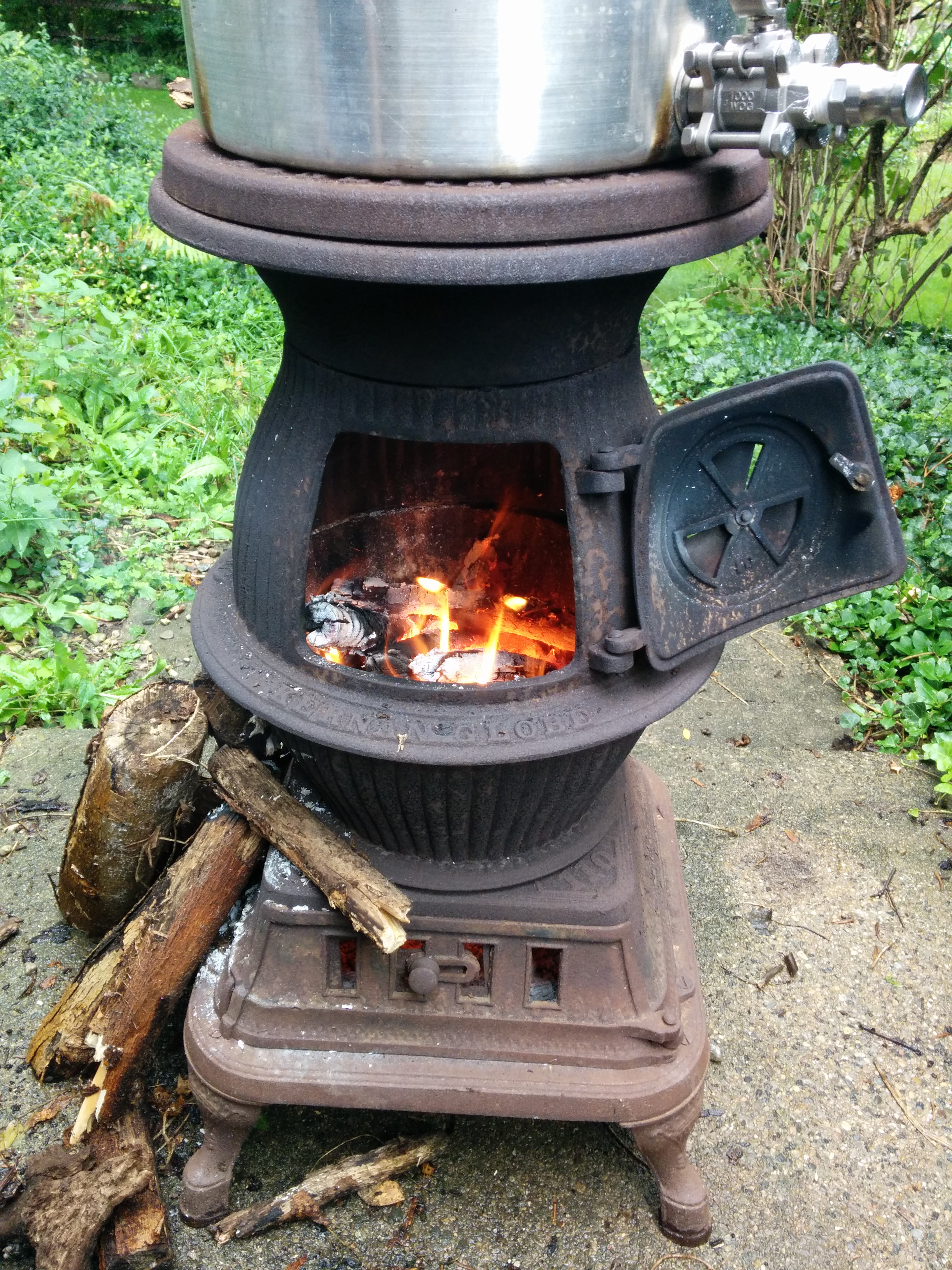 Outdoor Pot Belly Fireplace Fireplaces