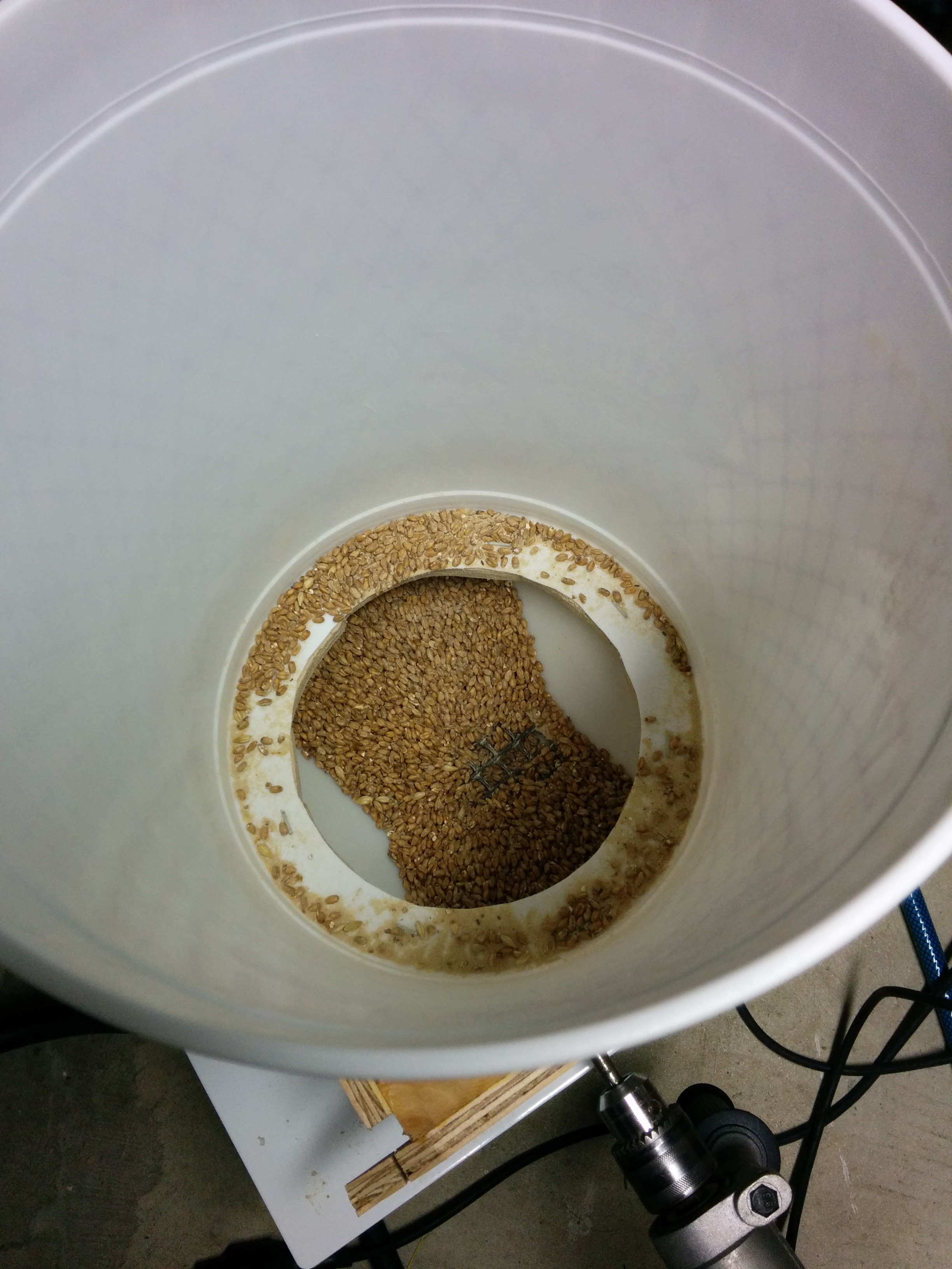 Simple add-on grain hopper for malt mill | samfirke com