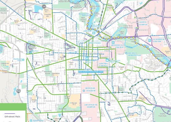 Ann Arbor's Bike Map